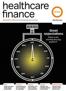 Healthcare Finance cover March18